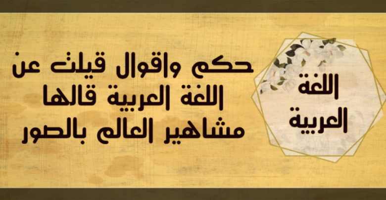 عبارات عن اللغه العربيه
